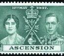 Ascension 1937 George VI Coronation