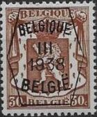 Belgium 1938 Coat of Arms - Precancel (3rd Group) d