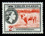 British Virgin Islands 1956 Queen Elizabeth II and Views c