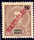 Lourenço Marques 1911 D. Carlos I Overprinted g