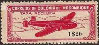 Mozambique 1946 Airplane over Mountainous Region a