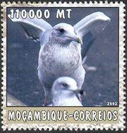 Mozambique 2002 The World of the Sea - Sea Birds 3 g