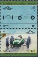 Nevis 1985 Leaders of the World - Auto 100 (3rd Group) e