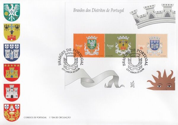 Portugal 1996 Arms of the Districts of Portugal (1st Group) FDCb