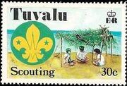 Tuvalu 1977 Scouting in Tuvalu 50th Anniversary c