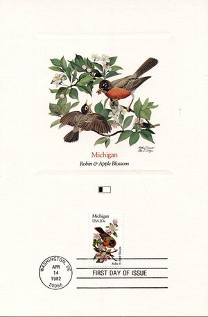 United States of America 1982 State birds and flowers FOLc4