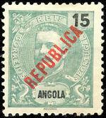 Angola 1914 D. Carlos I Overprinted b