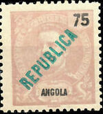 Angola 1914 D. Carlos I Overprinted d