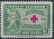 Ecuador 1944 80th Anniversary of the International Red Cross - Air Post Stamps b