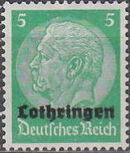German Occupation-Lothringen 1940 Stamps of Germany (1933-1936) Overprinted in Black c