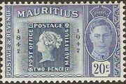Mauritius 1948 Centenary of the 1st Mauritius Postage Stamp c