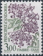 Andorra-French 1985 Flowers (Postage Due Stamps) h