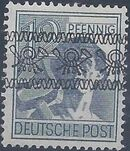 British and American Zone 1948 Overprinted with Posthorn Ribbon e