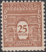 France 1944 Arc of the Triomphe - Allied Military Government d