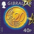 Gibraltar 2002 New coins in Europe e.jpg