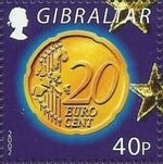Gibraltar 2002 New coins in Europe e
