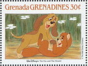Grenada Grenadines 1988 The Disney Animal Stories in Postage Stamps 2c