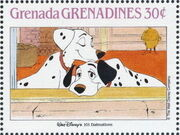 Grenada Grenadines 1988 The Disney Animal Stories in Postage Stamps 3b