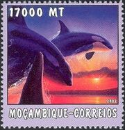 Mozambique 2002 The World of the Sea - Whales 1 d