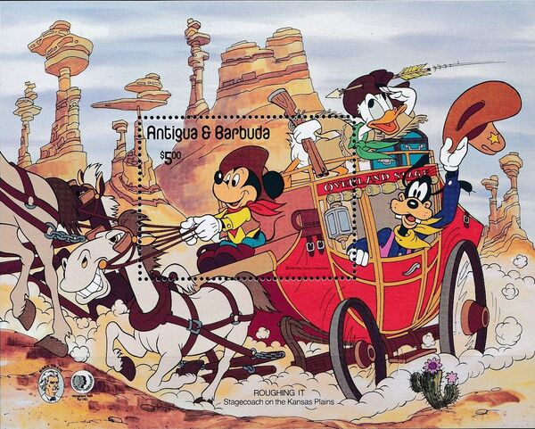 Antigua and Barbuda 1985 Disney - The 150th Anniversary of the Birth of Mark Twain g