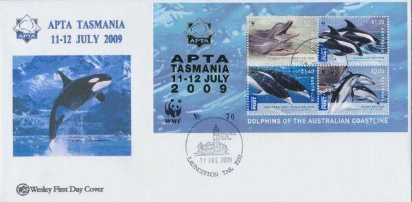Australia 2009 WWF - Dolphins of the Australian Coastline FDCj