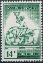 Belgium 1957 Mercury and Winged Wheel a