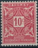 Dahomey 1914 Numerals b