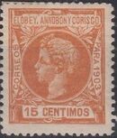 Elobey, Annobon and Corisco 1903 King Alfonso XIII i