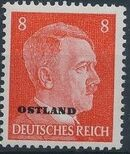 German Occupation-Russia Ostland 1941 Stamps of German Reich Overprinted in Black f