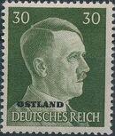 German Occupation-Russia Ostland 1941 Stamps of German Reich Overprinted in Black n