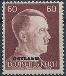 German Occupation-Russia Ostland 1941 Stamps of German Reich Overprinted in Black q