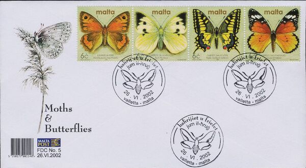 Malta 2002 Butterflies and Moths ad