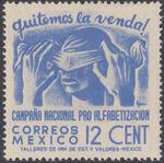 Mexico 1945 Alphabetization Campaign (Regular Mail) c