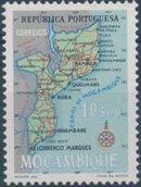 Mozambique 1954 Map of Mozambique g