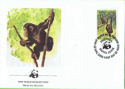 Sierra Leone 1983 WWF - Chimpanzees from Outamba-Kilimi National Park FDCc