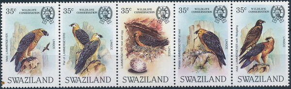 Swaziland 1983 WWF Bearded Vulture f