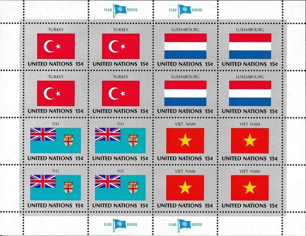 United Nations-New York 1980 Flags of Member Nations a