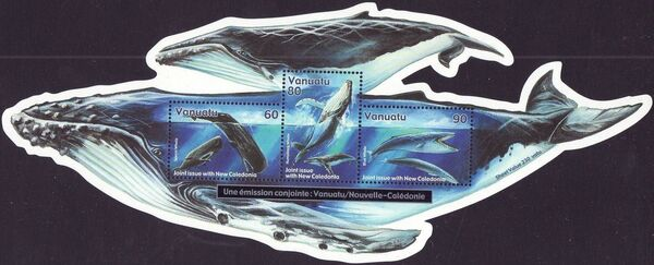 Vanuatu 2001 Whales - Joint Issue with New Caledonia d