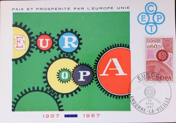Andorra-French 1967 Europa MCb