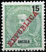 Angola 1911 D. Carlos I Overprinted d