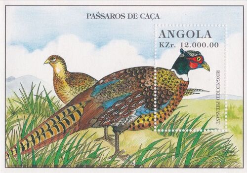 Angola 1996 Hunting Birds SSa
