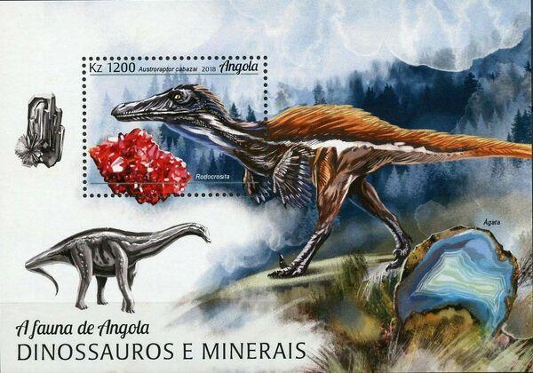 Angola 2018 Wildlife of Angola - Dinosaurs and Minerals SSa