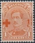 Belgium 1918 King Albert I (Red Cross Charity) a