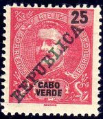 Cape Verde 1911 D. Carlos I Overprinted f