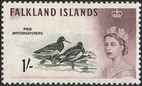 Falkland Islands 1960 Queen Elizabeth II and Birds j