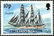 Falkland Islands 1989 Ships of Cape Horn j