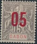 Gabon 1912 Navigation and Commerce Surcharged c