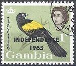 Gambia 1965 Birds Overprinted b