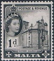 Malta 1956 Elizabeth II c
