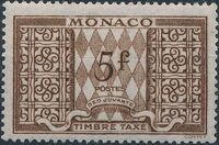 Monaco 1946 Postage Due Stamps h